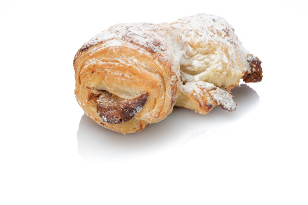 nut croissant pastry with sugar