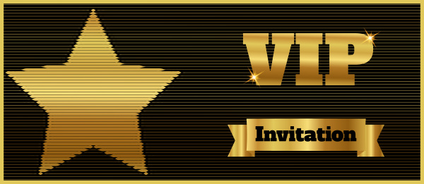 vip club party premium invitation card