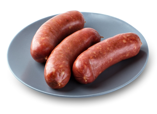 meat sausages on a plate