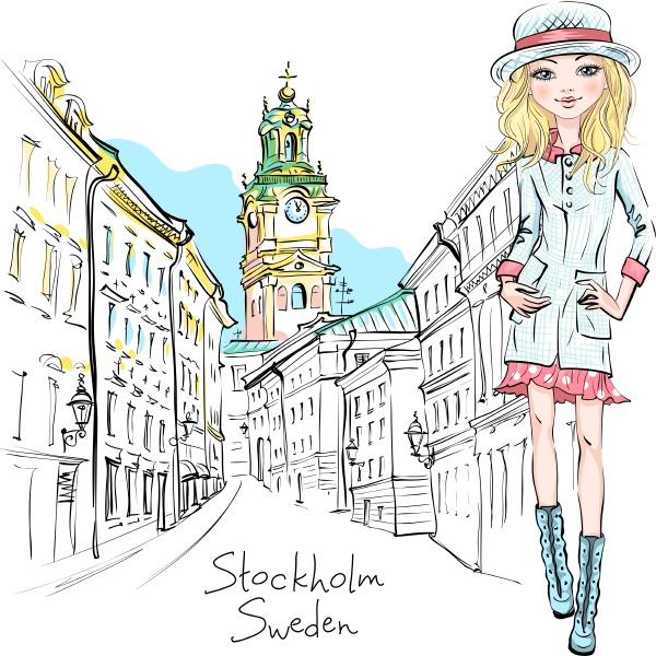 fashion girl in stockholm