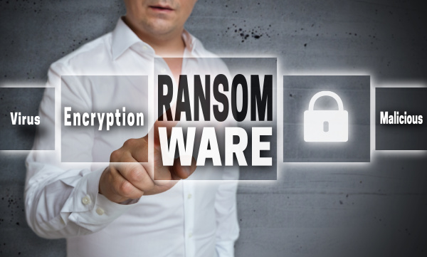 ransomware concept background is shown by