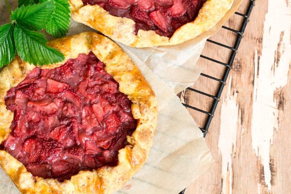 strawberry galette homemade bakery pastry summer