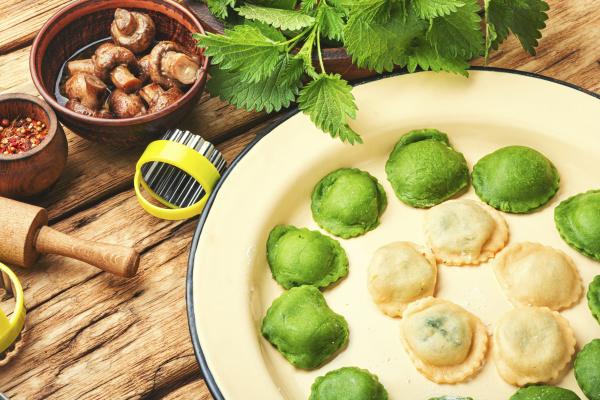 ravioli with nettle