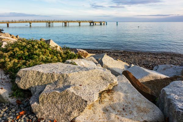 pier in sassnitz on the island