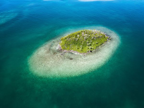 aerial view of caballo blanco reef
