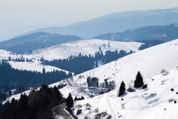 mountain landscape in winter season mount