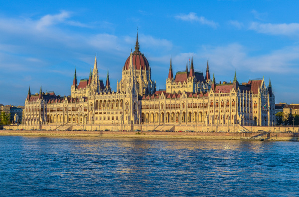 view on the hungarian parliament building
