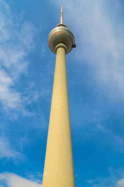 television tower against the blue sky