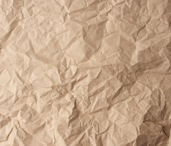 crumpled blank sheet of brown wrapping