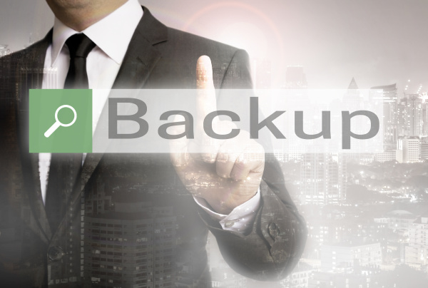 backup browser with business man and