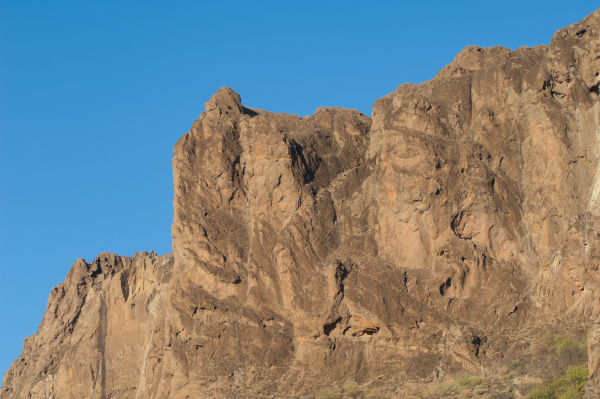rocky cliff in the nublo natural
