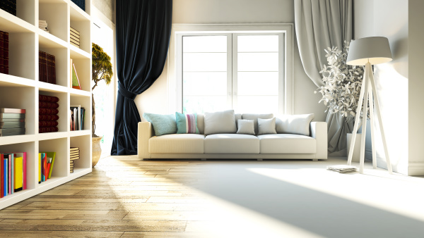 living room interior design with seat