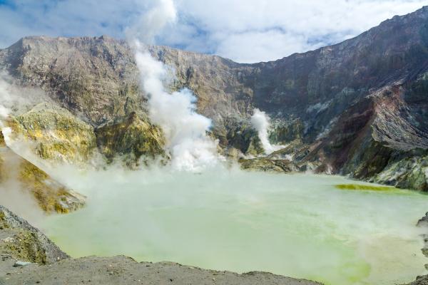 active volcano at white island new