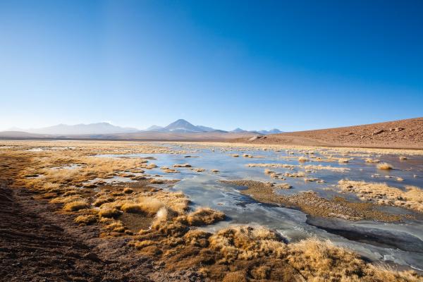 chilean lagoon landscape chile