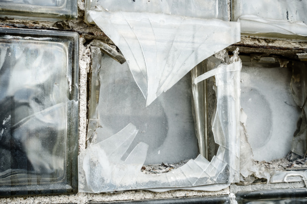 broken glass box window