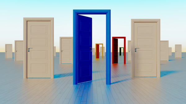 colorful doors to the world of