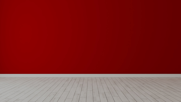 empty room with painted red wall