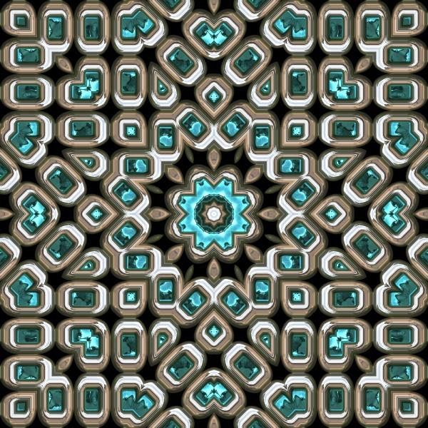 seamless repeating silver teal rhinestones
