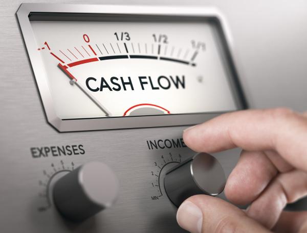 cash flow crisis concept risk