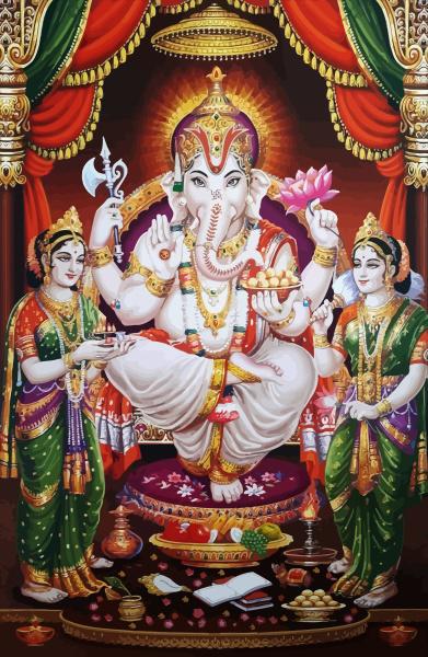 holy god ganesha hindu white elephant