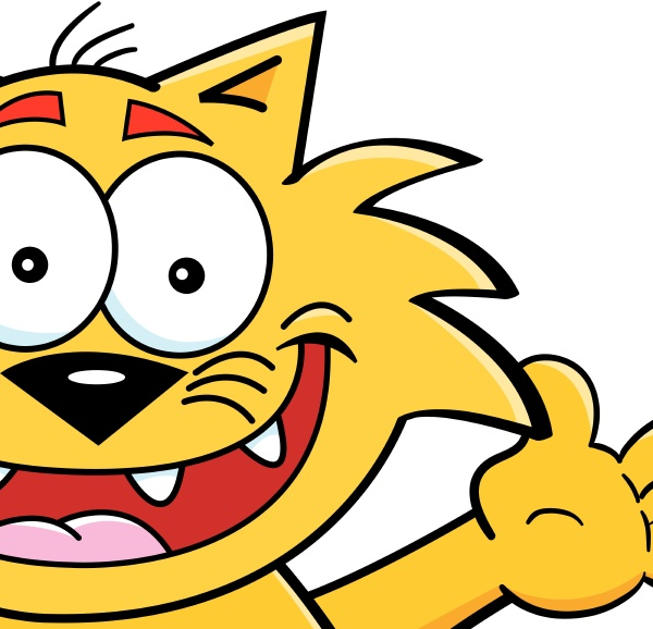 cartoon illustration of a cat with