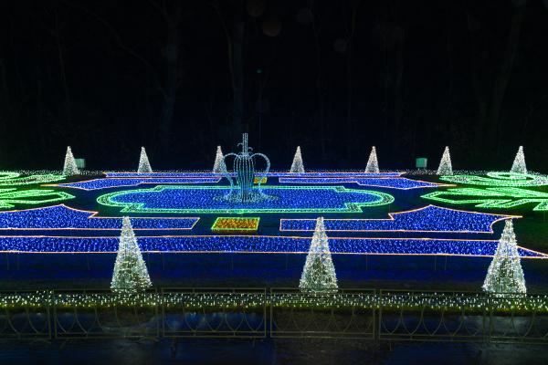 christmas illuminations in warsaw poland