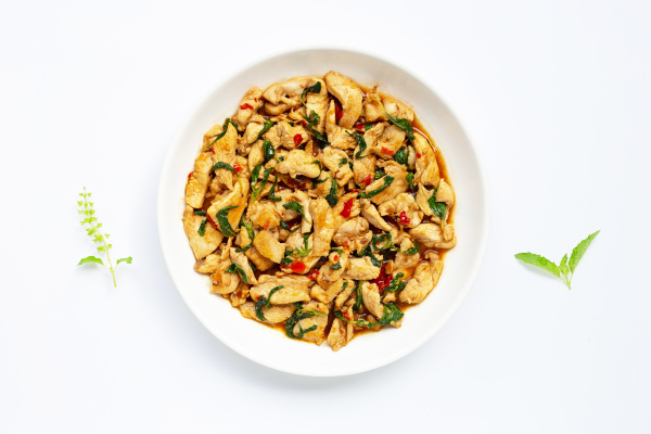 stir fried chicken with holy basil
