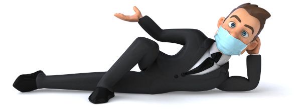 3d illustration of a cartoon character