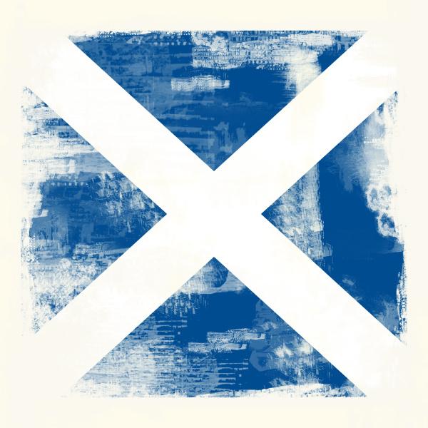 grunge flag of scotland