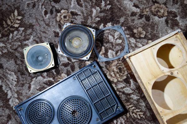 disassembled speaker case 15as 208 repair