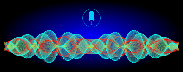 decorative voice recognition with a microphone
