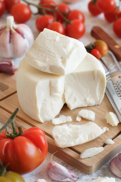 south italian cheese cacioricotta with vegetables