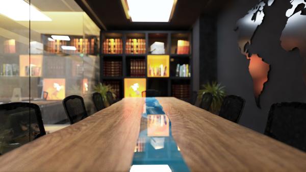 modern meeting room in office realistic