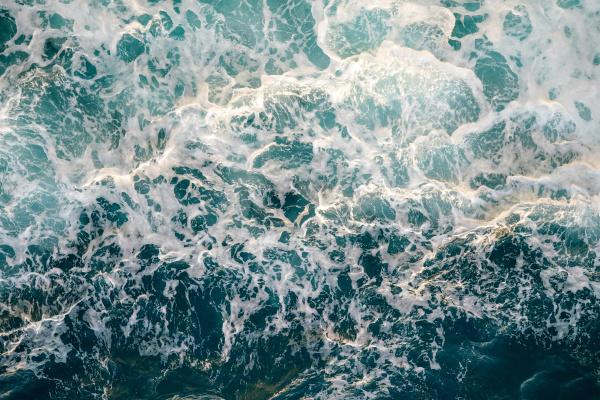 beautiful ombre dark blue ocean wave