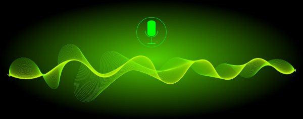 voice recognition with a microphone and