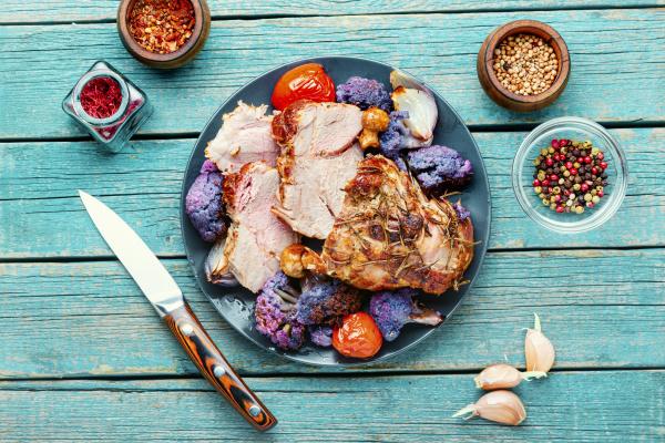 sliced roast pork porchetta