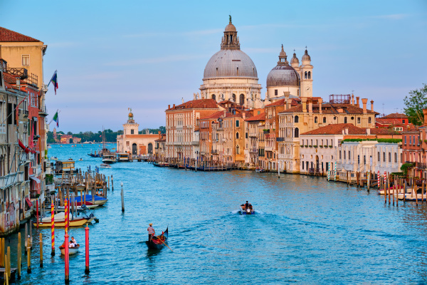 panorama of venice grand canal and