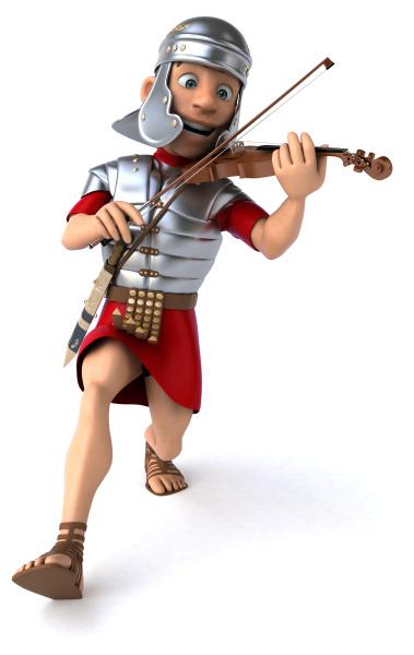 3d illustration of a roman soldier