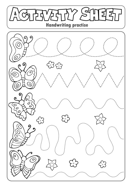 activity sheet handwriting practise topic 3