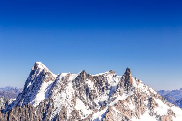 mont blanc mountain mountaneers walking on