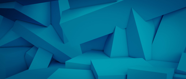 minimal and geometric background in blue
