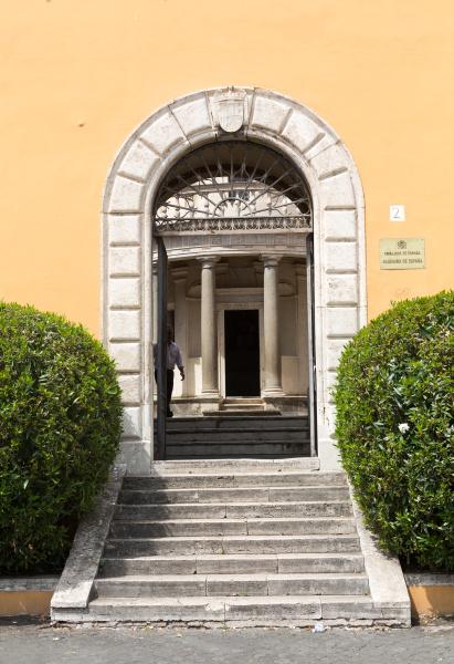 palazzo montorio on janiculum hill