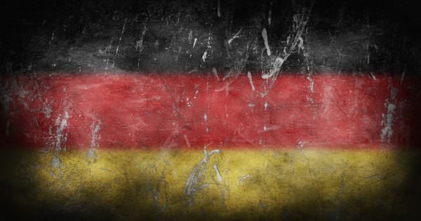 flag of germany with grunge texture