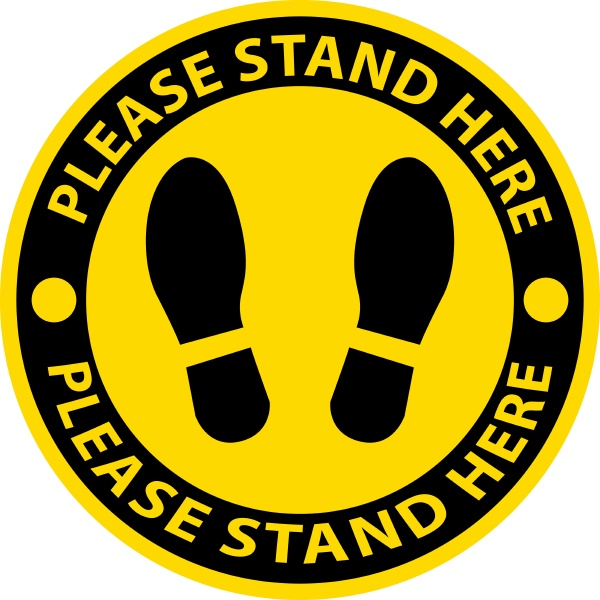 please stand here icon