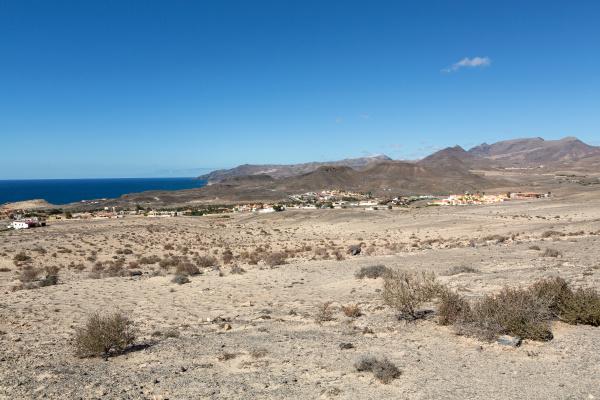 beautiful volcanic mountains on fuerteventura