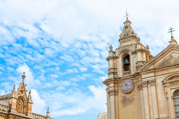 malta old castle mdina cathedral city