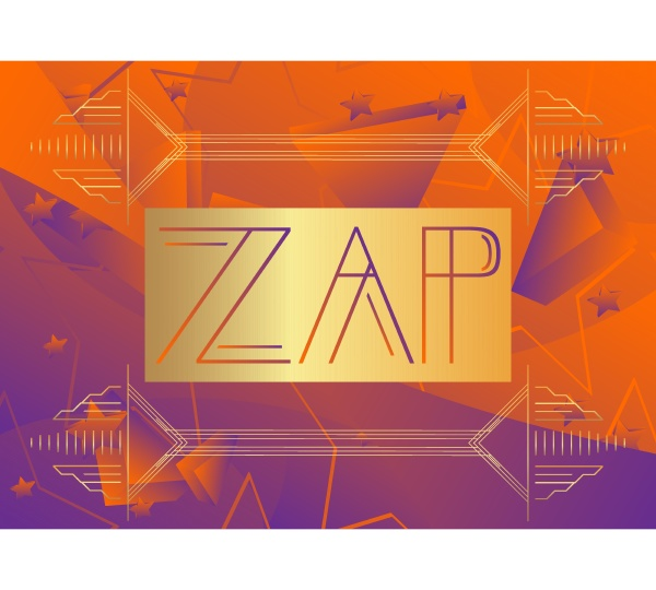 art deco zap expression word text