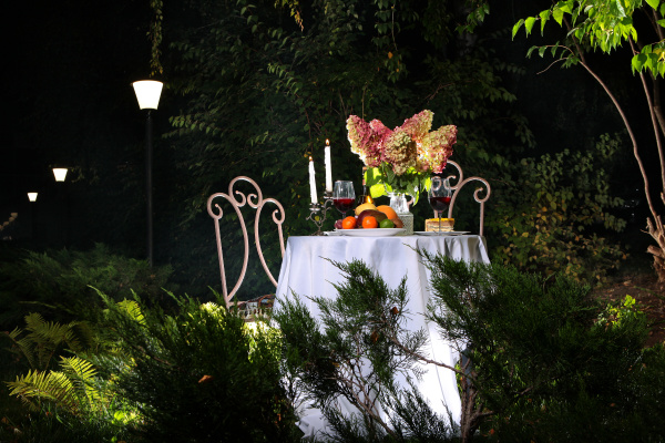 table setting for two in the