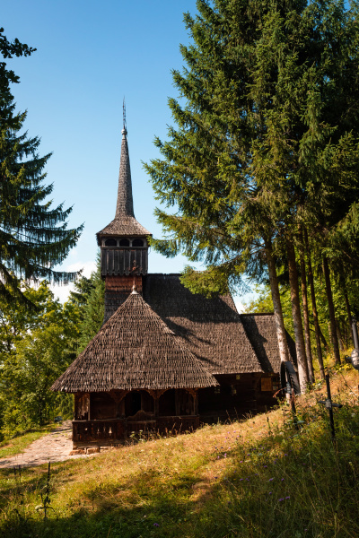 old wooden church in maramures romania