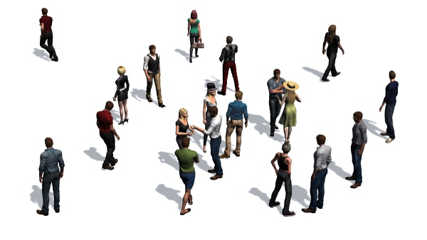 group of people isolated